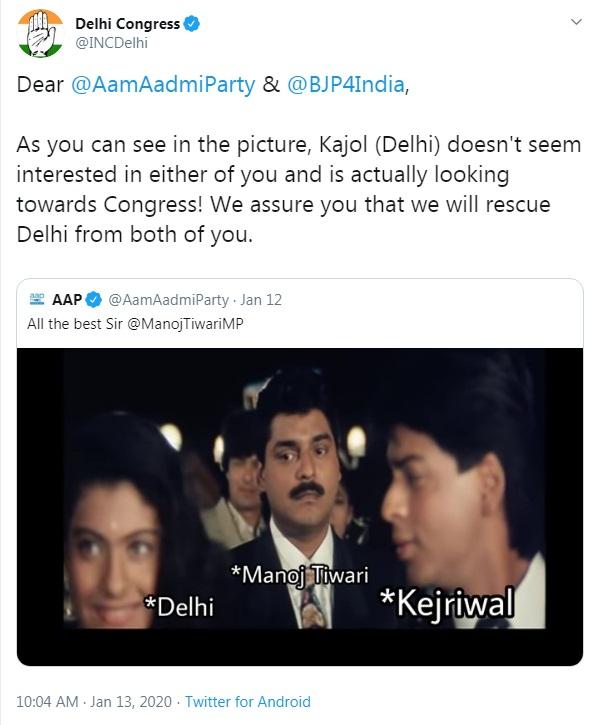 Bollywood Tadka, Delhi Assembly Election 2020, Delhi Filmy War