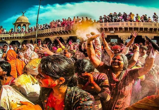 PunjabKesari, Holi, Holi 2019, Vrindavan Holi, वृंदावन की होली