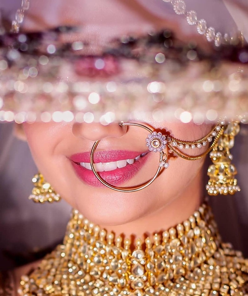PunjabKesari, Indian Bridal Nose Ring Nath Gold, इंडियन ब्राइडल नोज रिंग नाथ गोल्ड