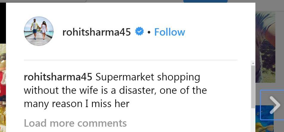 Rohit Sharma on Instagram
