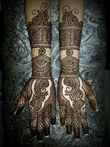 PunjabKesari, Henna Mehndi Design Full Hand Imageहिना मेहंदी डिजाइन फुल हैंड