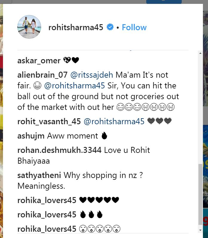 Rohit Sharma on Instagram