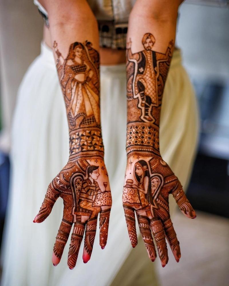 PunjabKesari,मेहंदीडिजाइन इमेज,Full Hand Mehndi Design Image,फुल हैंडमेहंदीडिजाइन इमेज