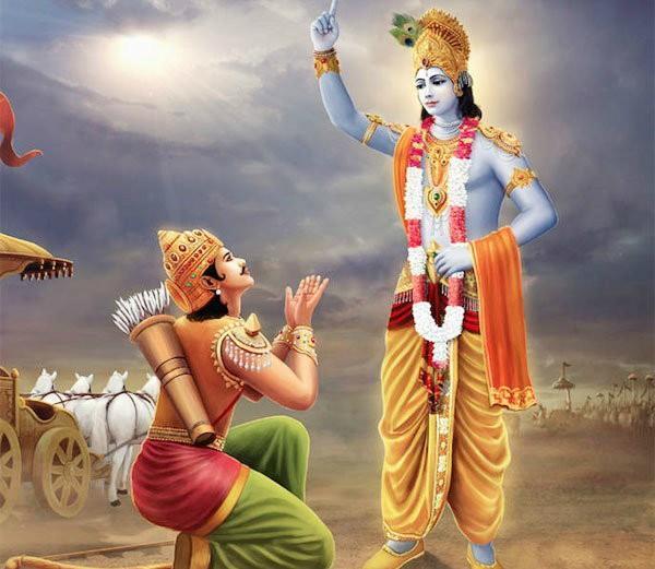 PunjabKesari, kundli tv, gita gyan image, krishna and arjuan image