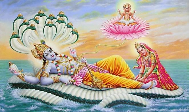 PunjabKesari, lord vishnu and laxami