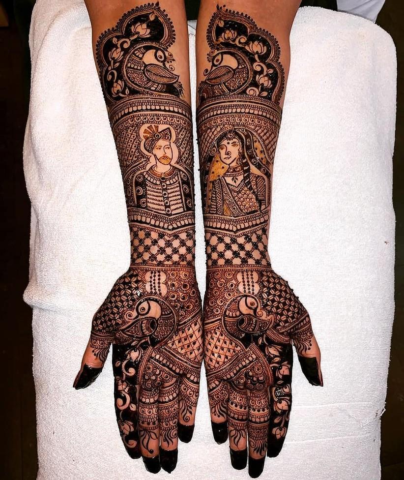 PunjabKesari, Front Hand Mehndi Design Image, फ्रंट हैंड मेहंदीडिजाइन इमेज