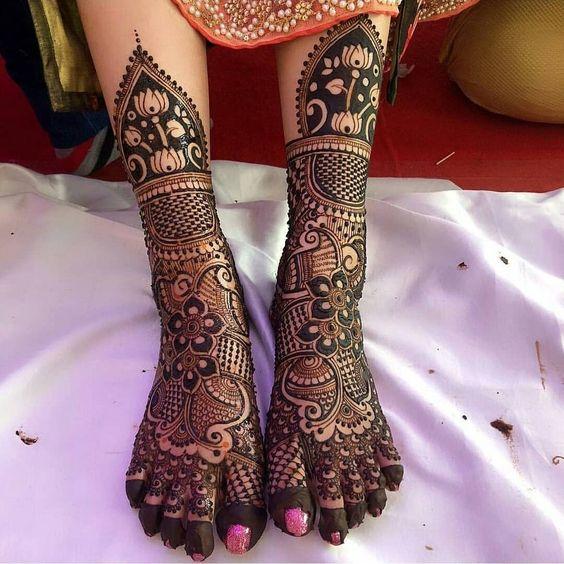 PunjabKesari, Dulhan Mehndi Designs for Legs, दुल्हन मेहंदी डिज़ाइन फॉर लेग