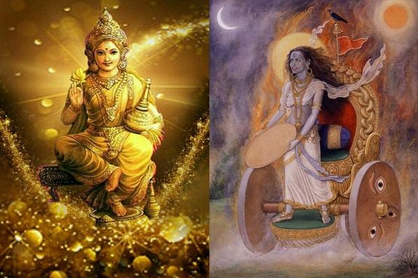 PunjabKesari, kundli tv, lakshmi and alakshmi image