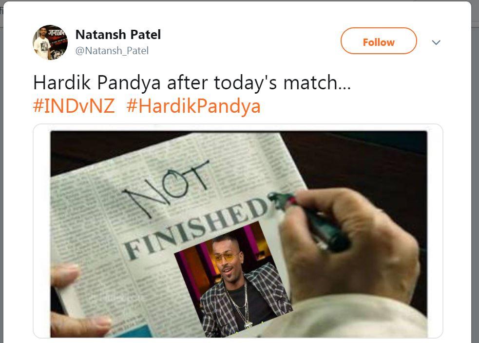 Hardik Pandya NZvIND