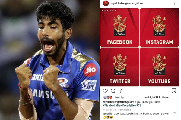 Bumrah Troll RCB over his new logo- write it's my action