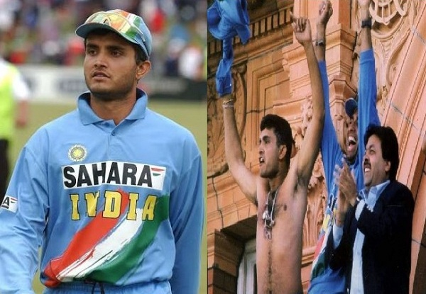 Which player in the current team India takes off T-shirt like Net west series