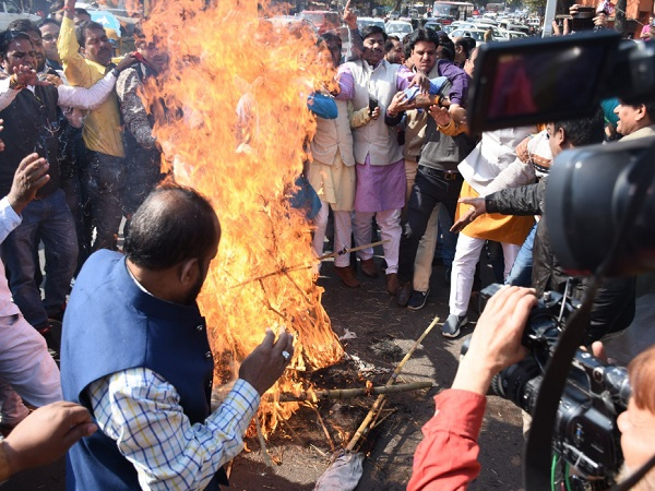 PunjabKesari,Madhya Pardesh Hindi Newsa, Jabalpur Hindi News,  Jabalpur Breaking Hindi News,  Jabalpur Hindi Samachar, BJP, Protest, Against Congress, CM Kamalnath