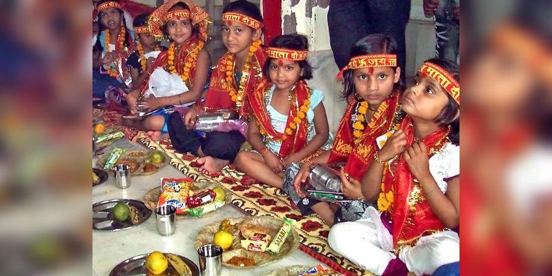 PunjabKesari, Kanya Pujan, कन्या पूजन