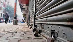kashmir bandh against the killing of militant musa