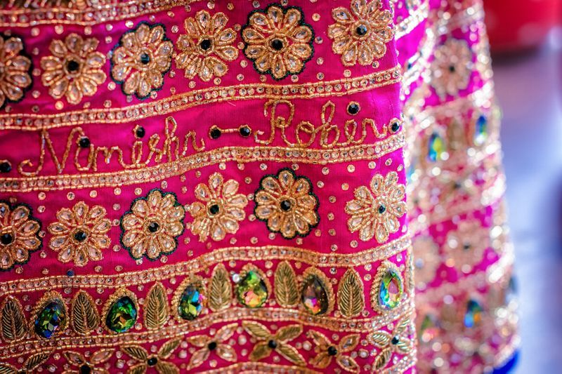 PunjabKesari, Nari, Bridal fashion, Personalized Embroidery Dupatta Image