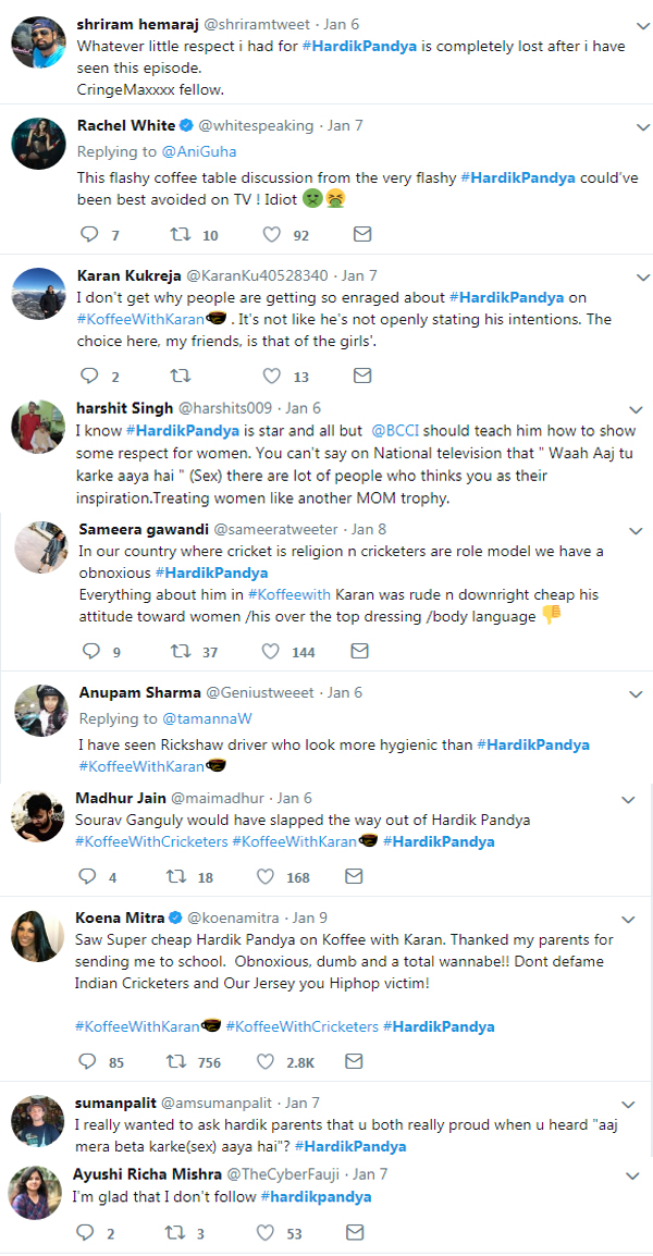 Hardik pandya trolled for his statement on women