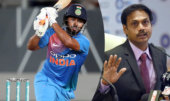 Rishabh Pant And MSK Prasad