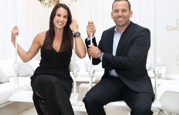 Golf : Sergio Gracia beautiful wife Angela Akins