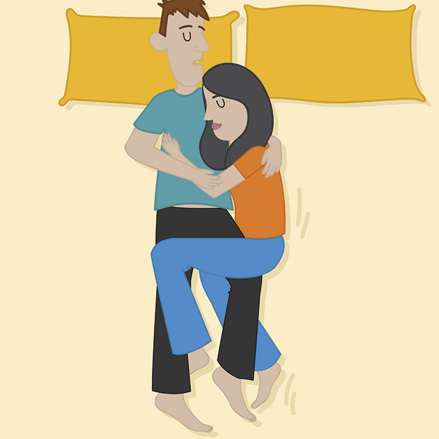 PunjabKesari, Nari, Couple sleeping positions Image