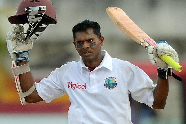 Shiv narayan Chandrapal hit first double century in Twenty20 cricket