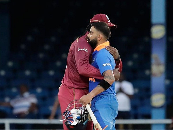 PunjabKesari, virat kohli photo, virat kohli images, chris gayle photo, chris gayle image