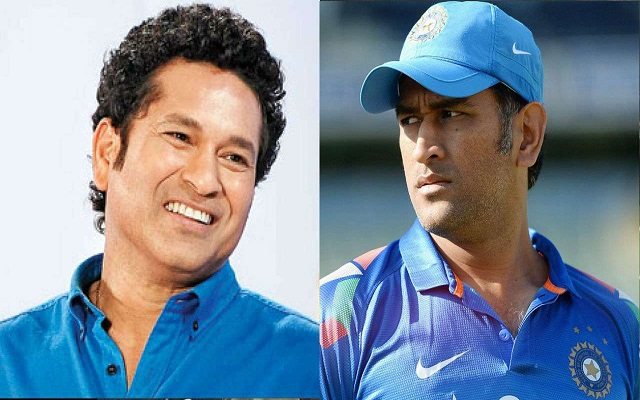 dhoni and sachin image