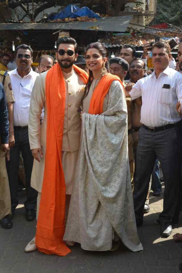 PunjabKesari, दीपिका पादुकोण image,रणवीर सिंह image, सिद्धिविनायक मंदिर image,फैमिली image,