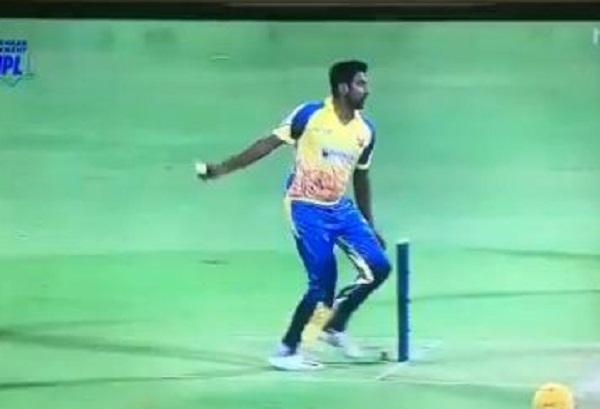 Ashwin's Bizarre Bowling Action During Tamil Nadu League