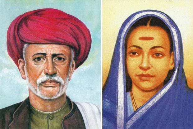 PunjabKesari, savitribai phule with husband image, सावित्रीबाई ज्योतिराव फुले इमेज