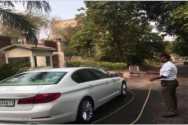 PunjabKesari, municipal, corporation, captain, car
