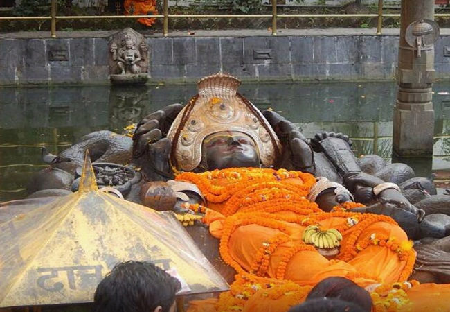PunjabKesari, Budhanilkantha temple, Kathmandu nepal,  बुढानिलकंठ मंदिर