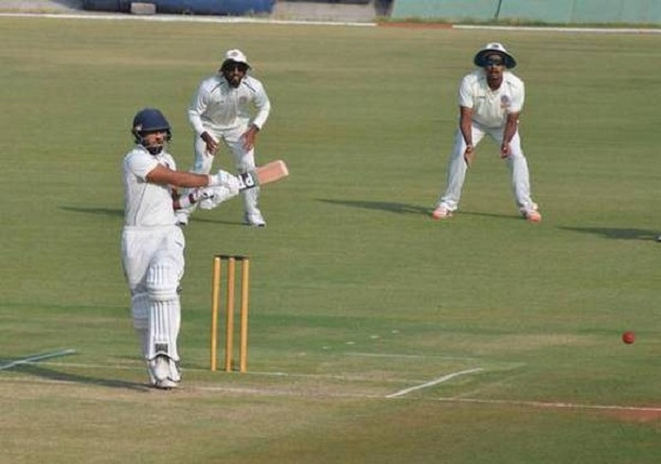 Ajay Rohera making world records while hit 267 run on debut match