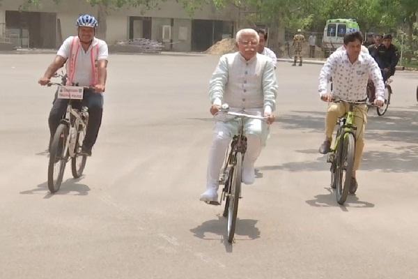 PunjabKesari, chief minister, world Cycle, day