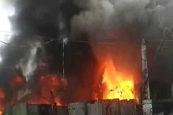 PunjabKesari, haryana hindi news, panipat hindi news, fire, dimple enterprise factory