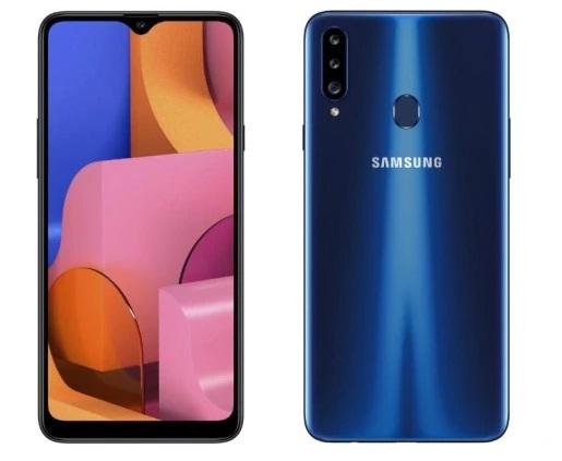 samsung galaxy a20s smartphone mobile