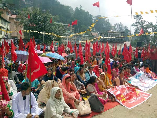 PunjabKesari, CITU Protest Image