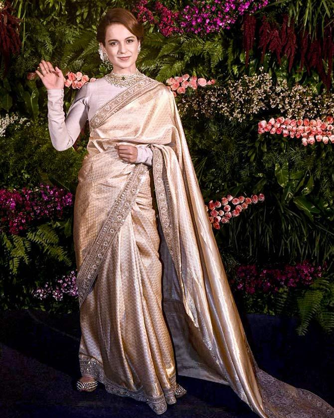 PunjabKesari, Kangana Ranaut image, Kangana Ranaut saree image, कंगना रनौत साड़ी इमेज