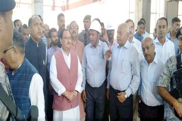 PunjabKesari, JP Nadda And CM Jairam Thakur Image