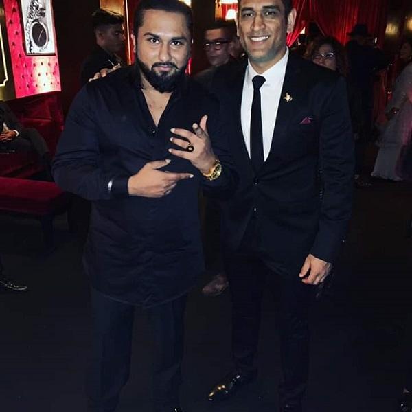 MS Dhoni And Honey Singh Ranveer-Deepika Reception