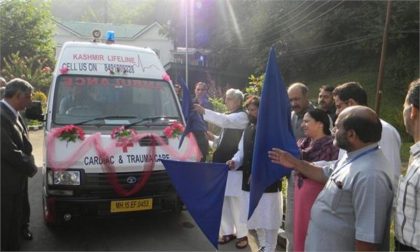 nri doctors starts ambulance service in kashmir