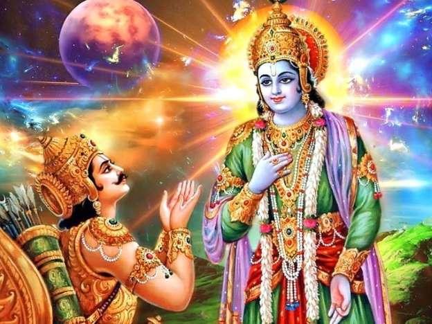 Shrimad bhagwat geeta, Bhagwat geeta, Shrimad bhagwat geeta gyan, Sri krishna, Arjun, Mahabharat, Hindu Shastra, Shastra Gyan, Religious Concept