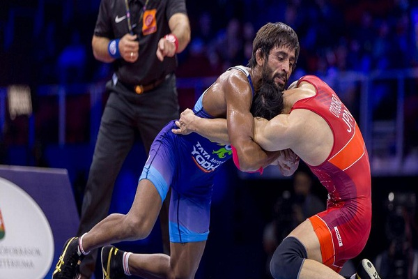 sports news, wrestling news hindi, indian wrestler, Bajrang Poonia, world's No.1, wrestler in 65kg, United World Wrestling