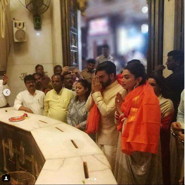 PunjabKesari,दीपिका पादुकोण image,रणवीर सिंह image, सिद्धिविनायक मंदिर image,फैमिली image,