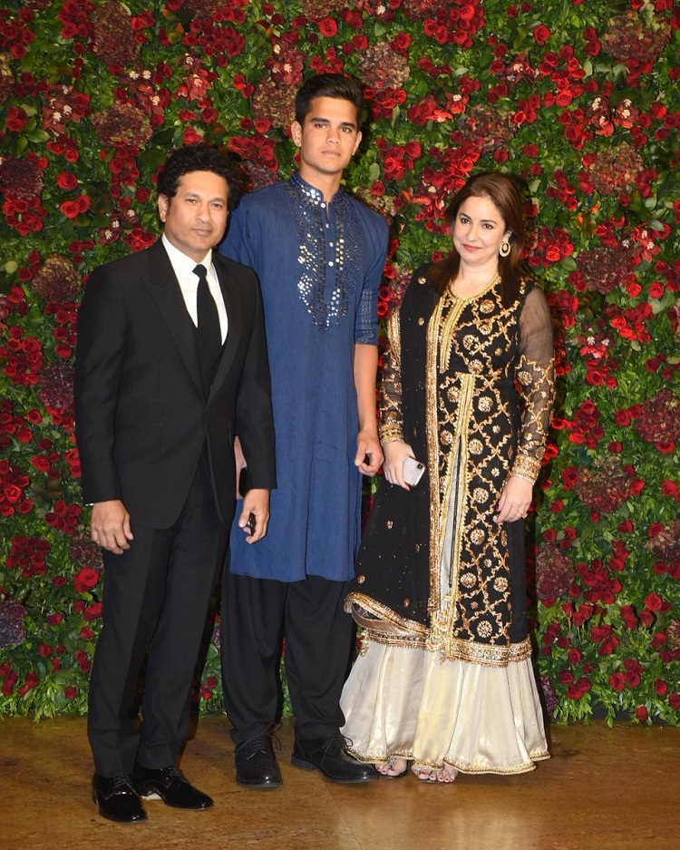 Sachin Tendulkar Ranveer-Deepika Reception