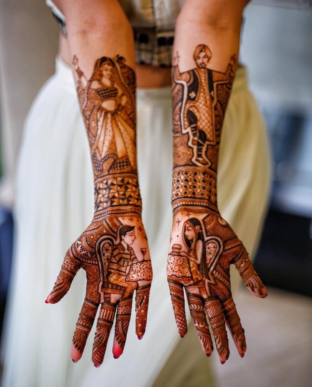 PunjabKesari, Nari, BestPortraits Mehndi Design Images,बेस्टपोट्रेट मेहंदी डिजाइन इमेज