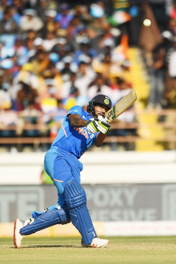 Shikhar Dhawan's magical performance against Australia continues
