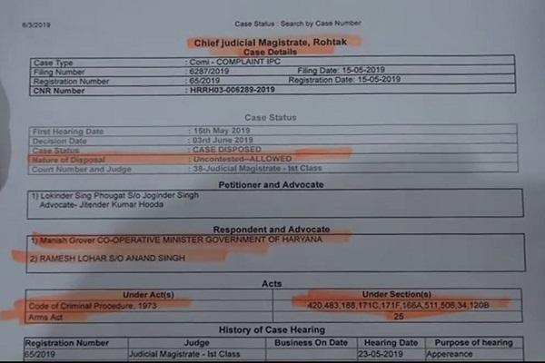 PunjabKesari, Court, Order, case, minister