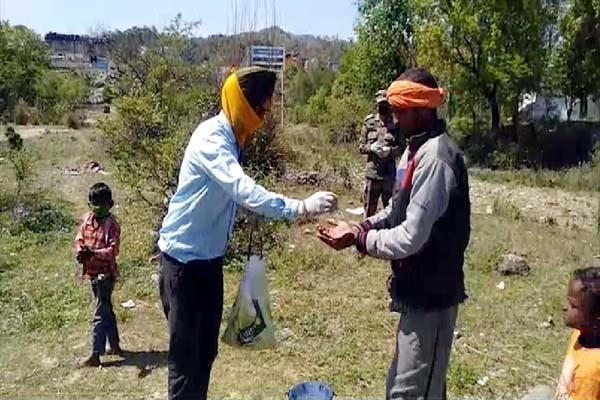 PunjabKesari, Ration and Mask Distribute Image