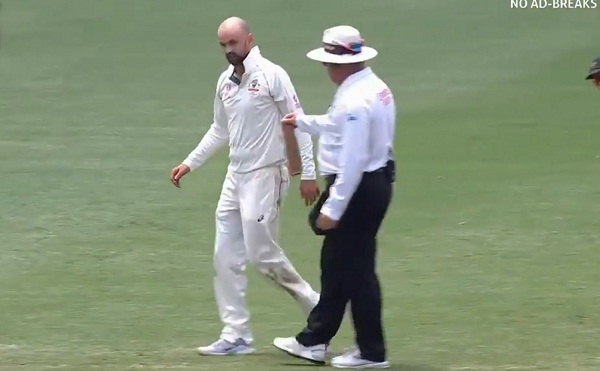 Nathan Lyon bowling with a Fractured thumb, also took 10 wickets