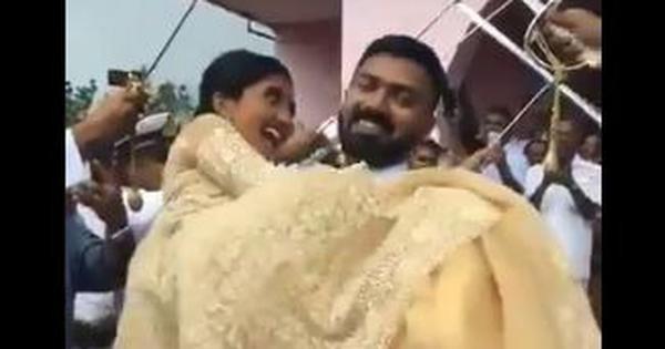 PunjabKesari,Wedding Task, Viral videos, Navy Officer, Nari
